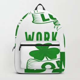Home Office - One Lucky Work From Home Dad Backpack