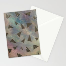 dark space meets color Stationery Cards