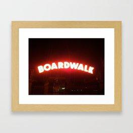 Boardwalk Sign Framed Art Print