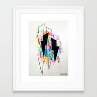 lightning Framed Art Prints featuring Lightning by Kelsey Brooks