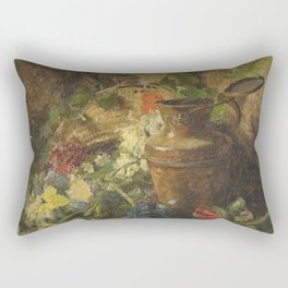 Theodore Clement Steele - Flowers And Vase Rectangular Pillow