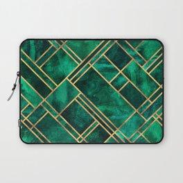 Emerald Blocks Laptop Sleeve