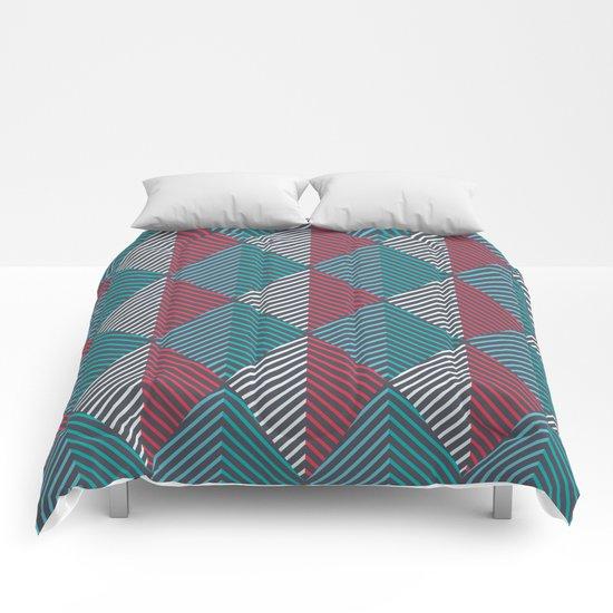 Minimal Diamonds Comforters
