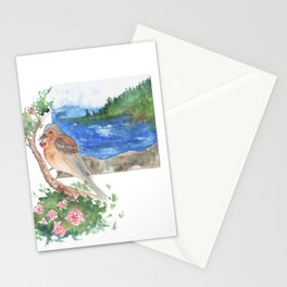 Bird by the beach Stationery Cards