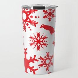 Snowbird Pattern Travel Mug