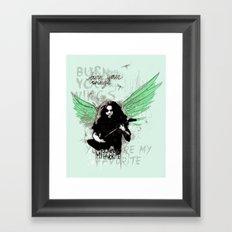 Burn Your Wings Framed Art Print