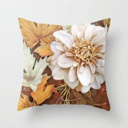 Autumn's Floral Throw Pillow