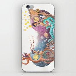 Boy and Girl Love At First Sight Across the Galaxy iPhone Skin