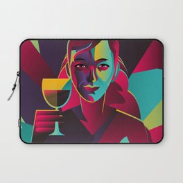 colorful cubist girl drinking wine Laptop Sleeve
