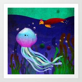 Mr. Jellyfish Art Print