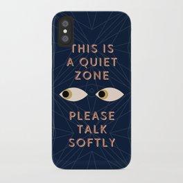 Quiet Zone iPhone Case