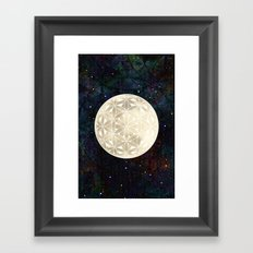 The Flower of Life Moon 2 Framed Art Print