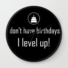 Gamers birthday Wall Clock