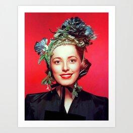 Eleanor Parker, Vintage Actress Art Print