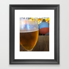 Synchronized forms Framed Art Print