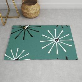 Fifties Kitchen Pattern Emerald Rug