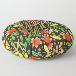 Jambo Everyone - Africa Swahili Quote Floor Pillow