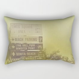 Lets go to the beach Rectangular Pillow