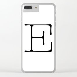Letter E Typewriting Clear iPhone Case
