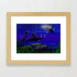 Hitch-hikers Framed Art Print