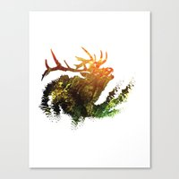 elk Canvas Prints featuring Elk by Justin Kedl