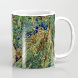 Blue Green Gold Copper Lava Flow Coffee Mug