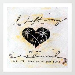 Heart island Art Print
