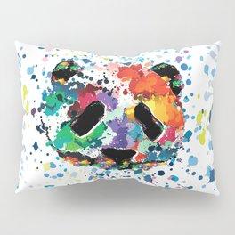Splash panda Pillow Sham