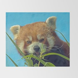 RED PANDA LOVE Throw Blanket