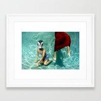 kozyndan Framed Art Prints featuring The Handler by kozyndan