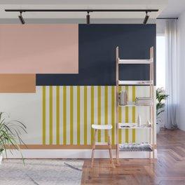Sol Abstract Geometric Print in Multi Wall Mural