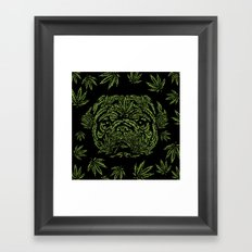 Marijuana of Pug Framed Art Print