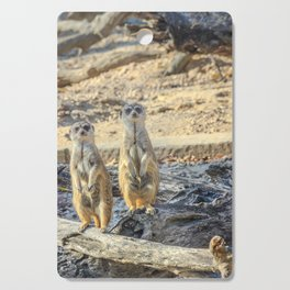 A couple of meerkats Cutting Board
