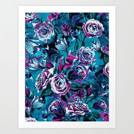RPE FLORAL VIII BLUE Art Print