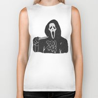 memphis Biker Tanks featuring Scream Memphis by negativecreep
