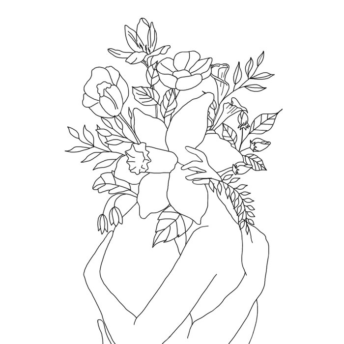 Blossom Hug Duvet Cover