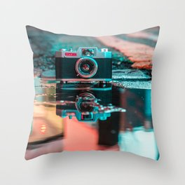 Camera Art Throw Pillow
