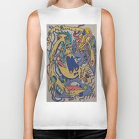 bookworm Biker Tanks featuring Bookworm by Gregree