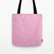 Ab Out Double Pink and Grey Tote Bag