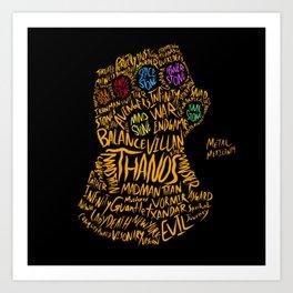 Infinity Gauntlet Art Print