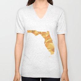 Florida Pattern Map Art Unisex V-Neck
