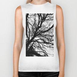 Tree forest wall art, trending minimalist Art, Minimalist, Black and White, Trees simple Biker Tank