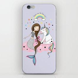 Mermaid & Unicorn iPhone Skin