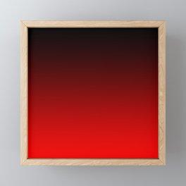 Black Red Neon Nights Ombre Framed Mini Art Print