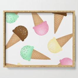 Ice Cream Pattern Serving Tray