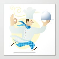 chef Canvas Prints featuring Chef by Dues Creatius