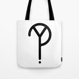 Black Y? Symbol Tote Bag