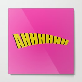 ahhhhh double layer pink Metal Print