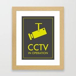 CCTV Framed Art Print