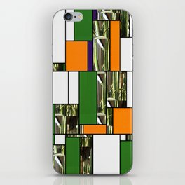 Cactus Garden Art Rectangles 5 iPhone Skin